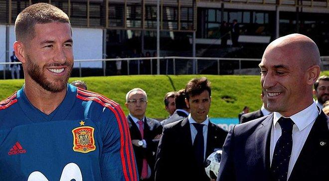 Скандал дня на ЧС-2018 в Іспанії: Піке відтягував Рамоса від Рубіалеса, і твіт гравця Барселони