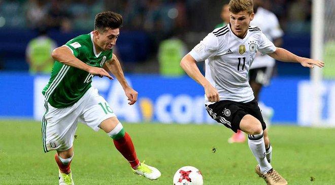 ЧМ-2018: Германия впервые за 36 лет не выиграла первый матч, Мексика впервые обыграла Бундестим