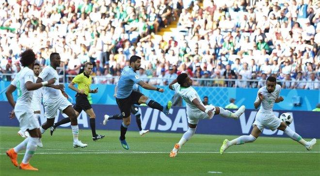 Уругвай – Саудовская Аравия – видео гола и обзор матча