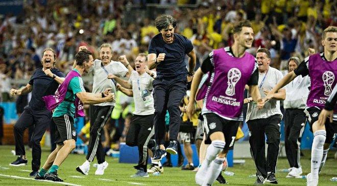 ЧМ-2018: Германия лишь второй раз в истории выиграла матч Кубка мира благодаря голу в компенсированное время