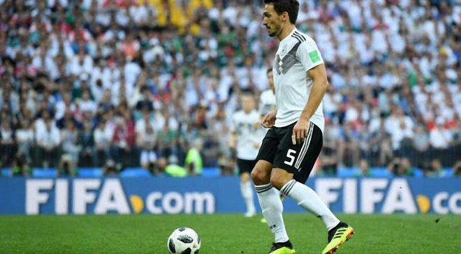 Хуммельс: Удача посміхнулась збірній Німеччини