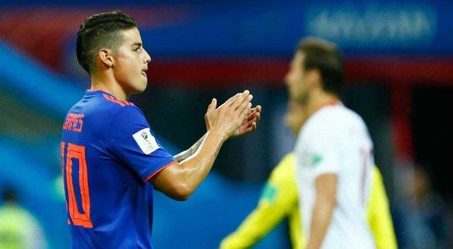 Польша – Колумбия: Хамес Родригес признан лучшим игроком матча