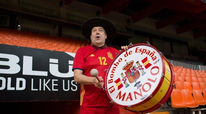 Іспанія – Росія: легендарному фану Маноло дозволять принести на трибуни знаменитий барабан