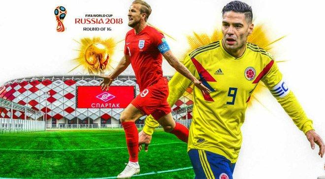 Колумбія – Англія: прогноз на матч 1/8 фіналу ЧС-2018