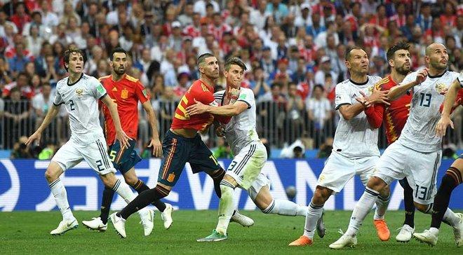 История футбола испания россия