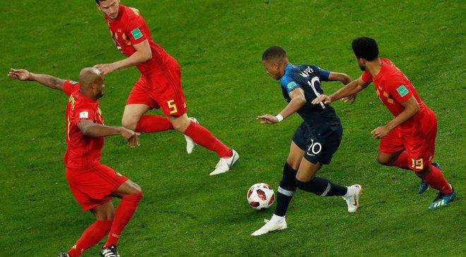 """ЧС-2018 Франція – Бельгія: долю півфіналу вирішує """"золотий гол"""", Мбаппе і Дешам ставлять історичні рекорди"""