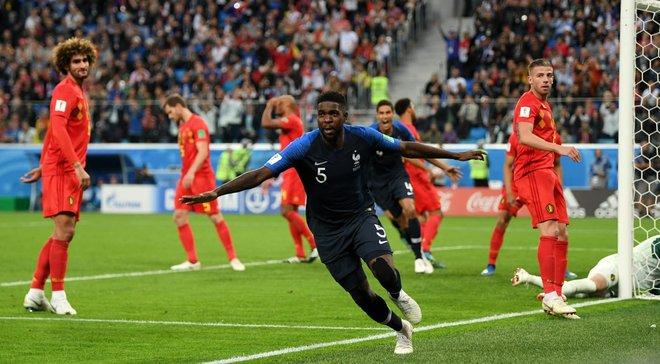Франция – Бельгия: Умтити признали лучшим игроком матча
