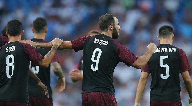 Ігуаїн забив перший гол за Мілан у матчі проти Реала, за який виступав протягом 6,5 років