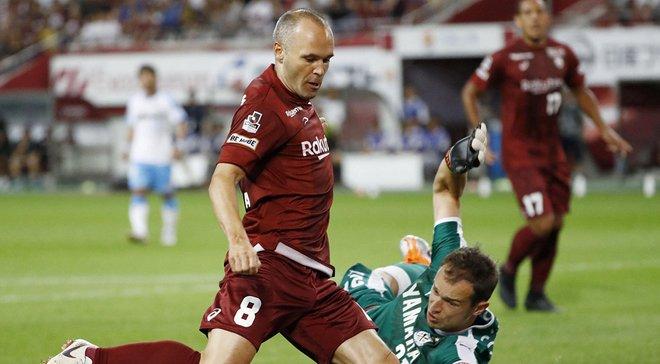 Иньеста забил за Виссел Кобе во втором матче подряд: очередной шедевр испанца