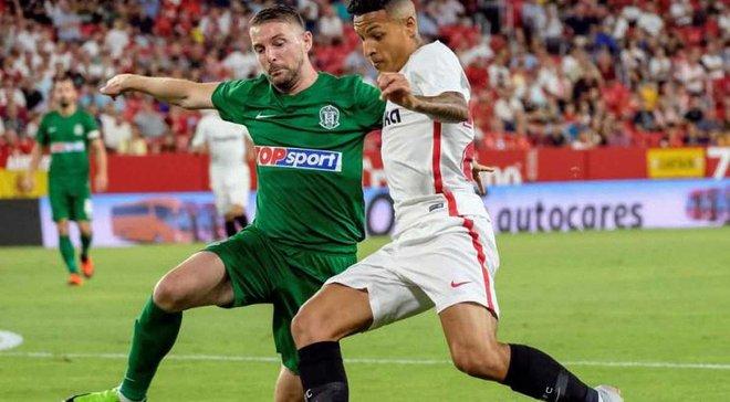 Лига Европы, квалификация: Севилья разгромила Жальгирис, Митьюлланд обыграл Нью-Сейнтс