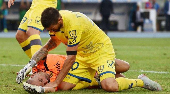 Голкипер Кьево Соррентино попал в больницу после столкновения с Роналду – у игрока подозрение на черепно-мозговую травму