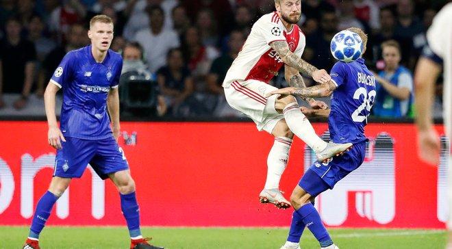 Головні новини футболу 22 серпня: Динамо програло Аяксу в Лізі чемпіонів, Ребров очолив європейський клуб