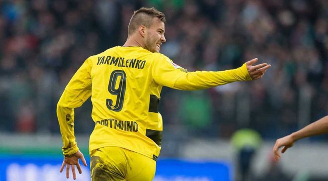 Гол Ярмоленко в ворота Аугсбурга вошел в десятку лучших голов сезона Боруссии
