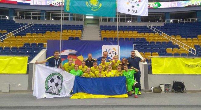 Женская сборная Украины по футзалу заняла 2 место на студенческом чемпионате мира, мужчины победили в матче за 3 место