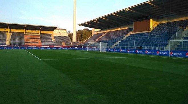 Чехія – Україна: як виглядає стадіон Мирослав Валента перед матчем збірних – фото дня