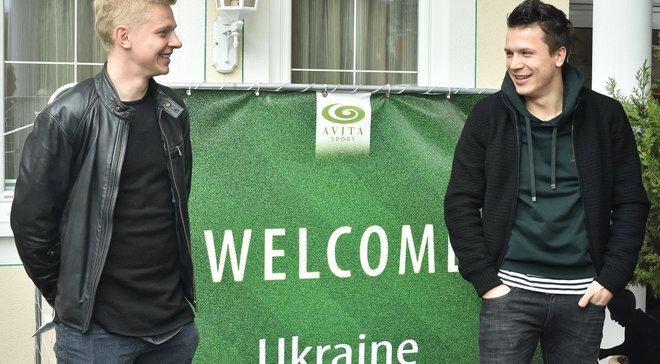 Коноплянка и Зинченко запустили фартовый ритуал перед матчами сборной Украины