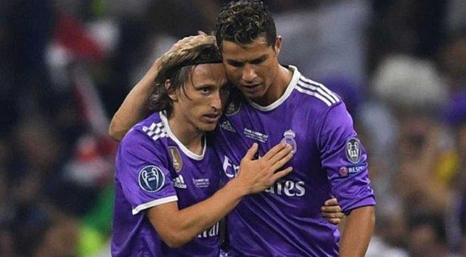 Роналду привітав Модріча та зазначив, що той заслуговує на звання найкращого гравця сезону
