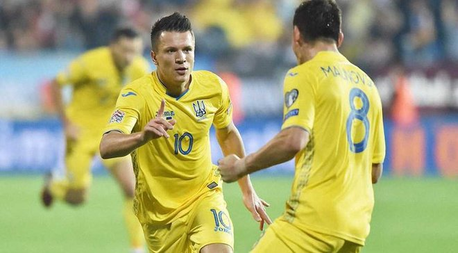 Чехія – Україна: Коноплянка подякував уболівальникам після матчу