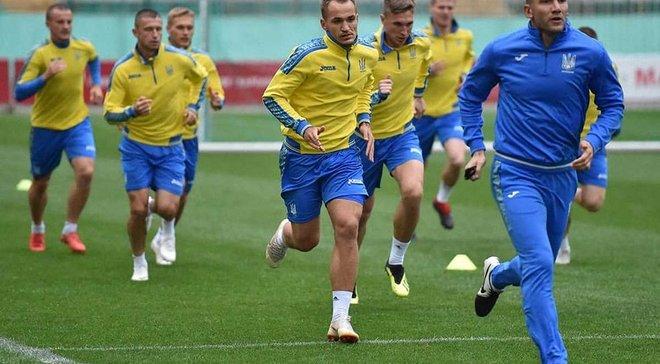 Украина провела первую тренировку во Львове перед матчем против Словакии – как это было