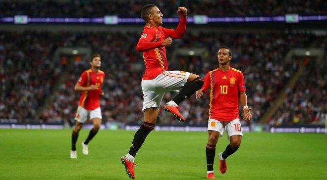 Ліга націй: Іспанія на виїзді здобула вольову перемогу над Англією