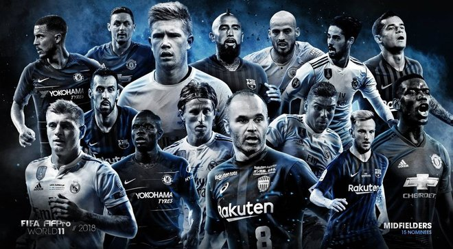ФІФА назвала 55 номінантів у символічну збірну року – по 10 гравців з Реала та Барселони