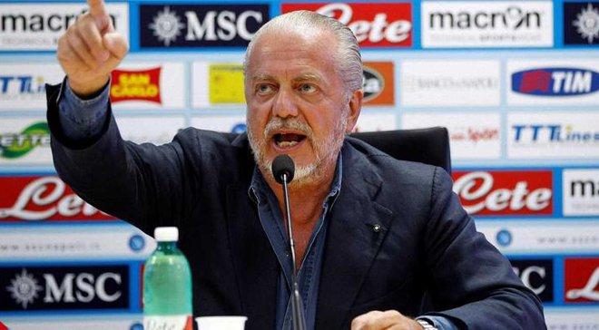 Президент Наполі хоче, щоб команда проводила матчі Ліги чемпіонів в Барі