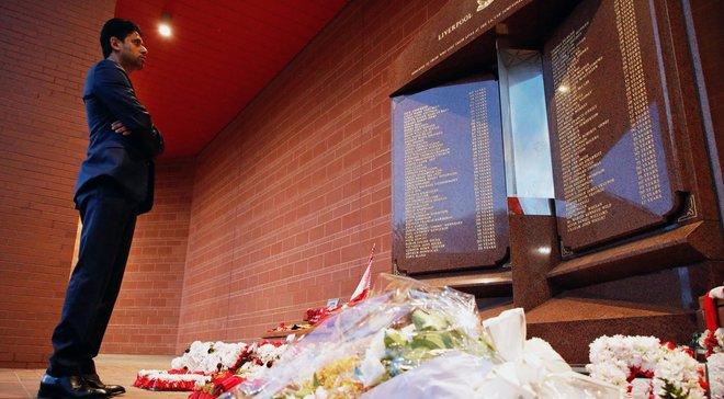 Президент ПСЖ Аль-Хелаифи отдал дань уважения жертвам трагедии Хиллсборо