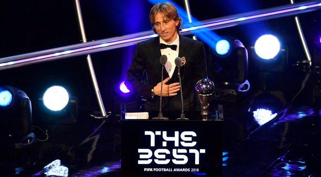 Модріч довів до сліз екс-партнера Шевченка Бобана на церемонії The Best-2018 – він є ідолом хавбека