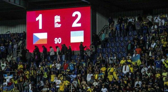 УЄФА оштрафував ФФУ за поведінку вболівальників на матчі Чехія – Україна