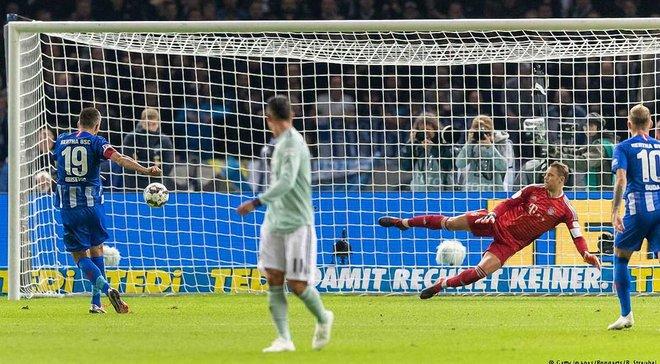 Герта сенсаційно перемогла Баварію й наздогнала її на вершині Бундесліги