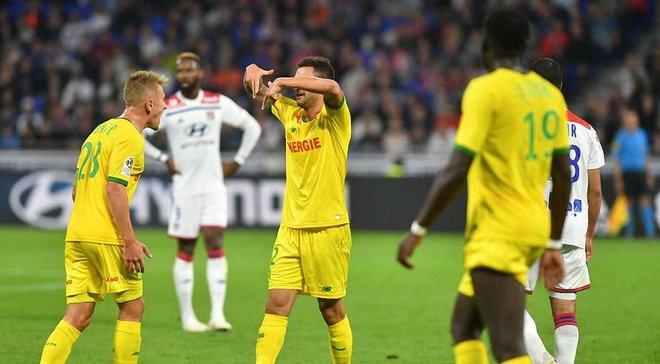 Лига 1: Соперник Шахтера в Лиге чемпионов Лион расписал результативную ничью с Нантом и другие матчи субботы