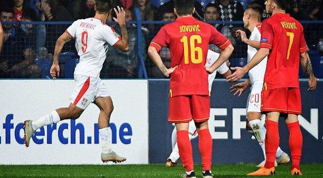 Чорногорія – Сербія – 0:2 – відео голів та огляд матчу
