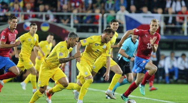 Украина – Чехия: анонс матча Лиги наций