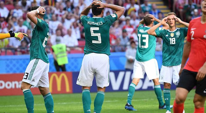 Германия впервые в истории не забила в трех официальных матчах подряд