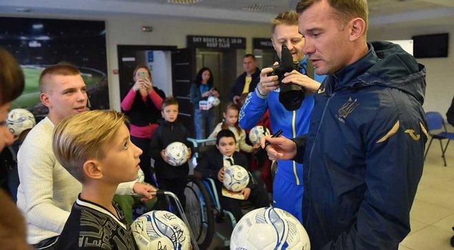 Игроки сборной Украины приняли детей с инвалидностью