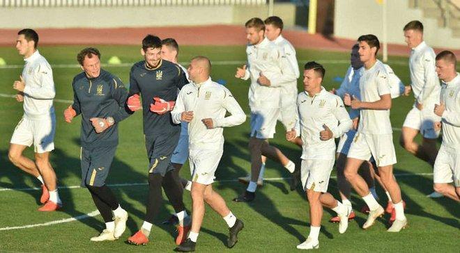 """Украина – Чехия: """"сине-желтые"""" провели последнюю тренировку перед матчем Лиги наций"""