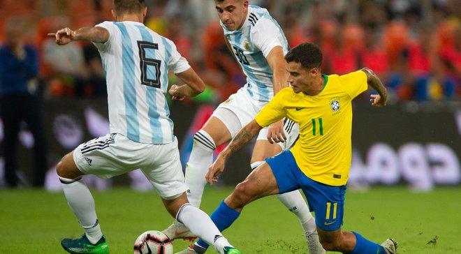 Бразилия вырвала победу над Аргентиной в товарищеском матче