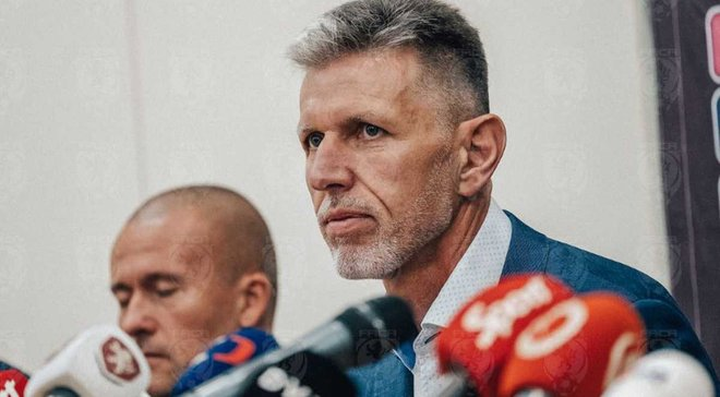 Украина – Чехия: послематчевая пресс-конференция Ярослава Шилгавы