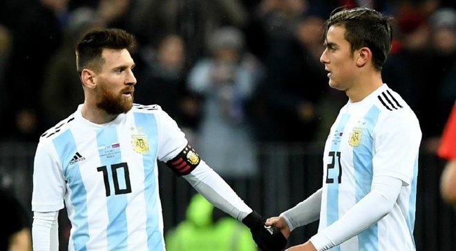 Дибала получил травму в матче за сборную Аргентины