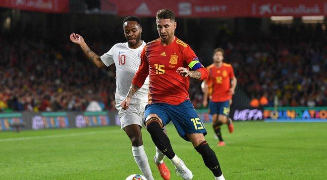 Рамос довів симуляцію Стерлінга у матчі Іспанія – Англія