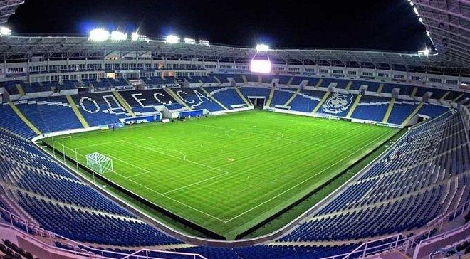 На стадионе Черноморец произошел пожар