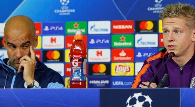 Гвардиола объяснил, почему проигнорировал Зинченко, которого на матч против Шахтера пришли поддержать 27 близких
