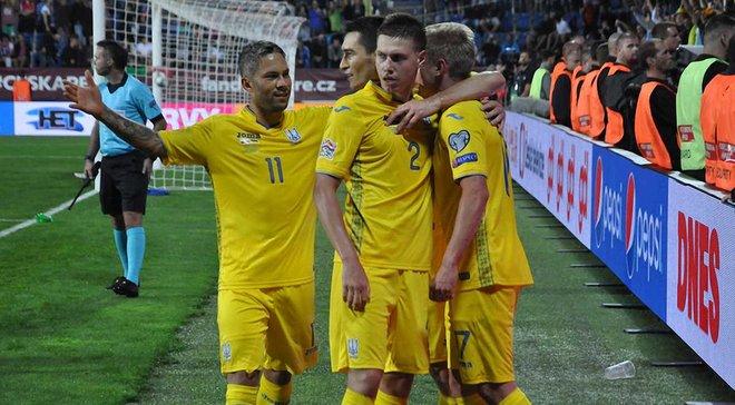 Украина поднялась на 2 позиции в обновленном рейтинге ФИФА