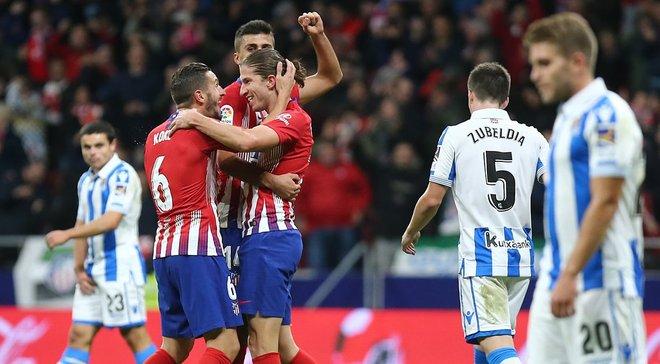 Техничный выстрел Филипе Луиса и еще 4 лучших гола 10-го тура Ла Лиги
