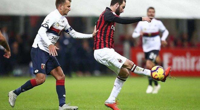 Милан победил Дженоа и поднялся в зону Лиги чемпионов