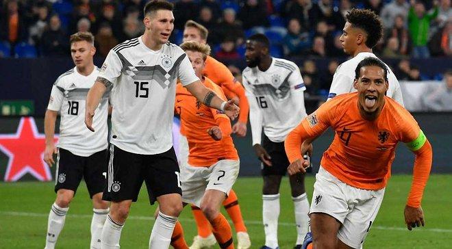 Лига наций: Нидерланды спасли ничью в матче с Германией и вышли в Финал четырех турнира