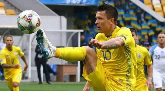 Словаччина – Україна: гол Коноплянки потрапив у топ-5 туру Ліги націй за версією УЄФА