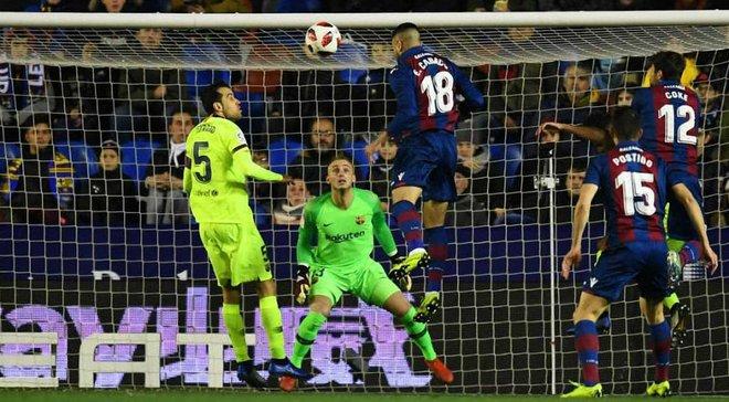 Леванте – Барселона – 2:1 –  видео голов и обзор матча