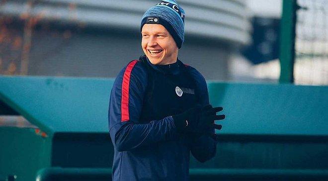 Манчестер Сити поздравил Зинченко с дебютным голом, вспомнив его танец на Хэллоуин