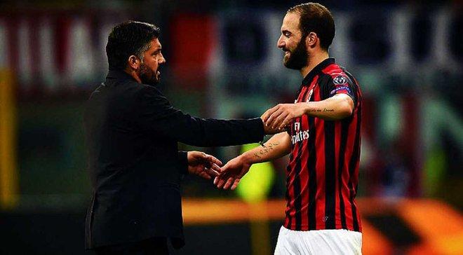 """""""Я бы запер его в комнате и бросал еду каждые 2-3 часа"""", – Гаттузо подтвердил желание Игуаина покинуть Милан"""